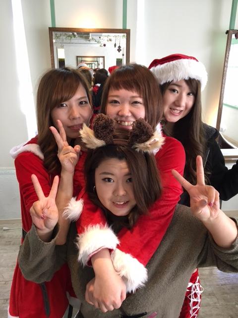 クリスマス営業サンタ美容師