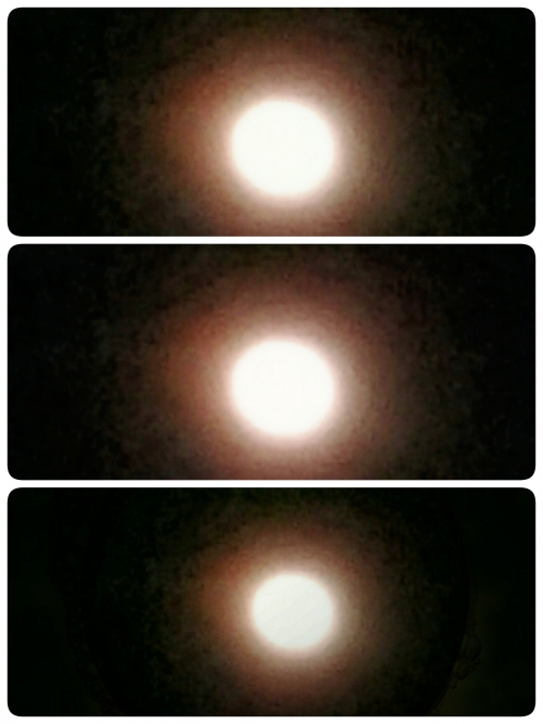 満月の翌日の月光!