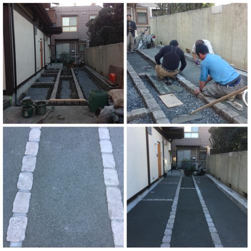 駐車場工事~透水性コンクリート、ドライテック~