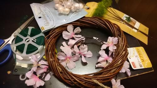 ★桜リース♪バレンタインのチョコ★
