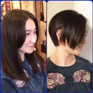 黒髪ショート スタイルチェンジ!