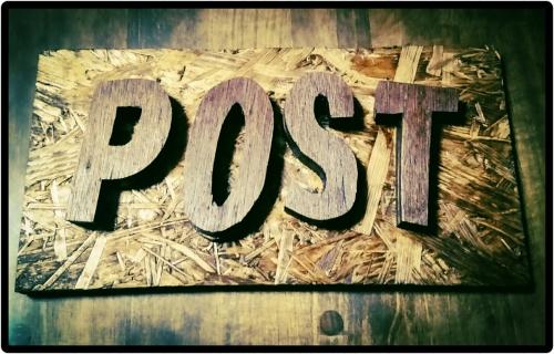 postの看板