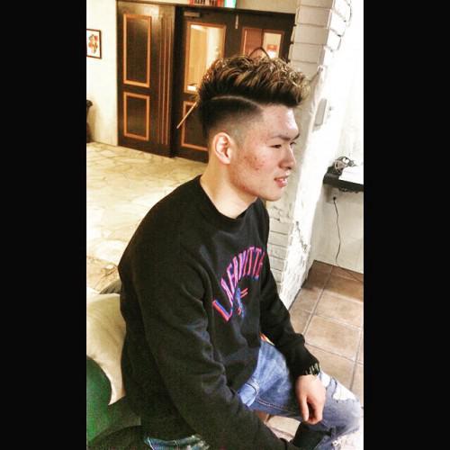 メンズパーマ 刈り上げ 新潟 理容室 barber