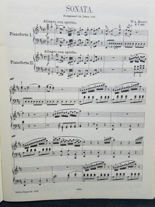 モーツァルト2台ピアノのためのソナタ