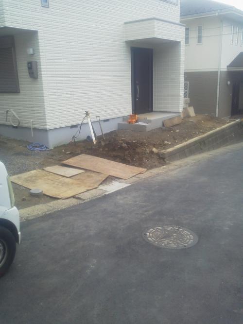 栄区で外構造工事。
