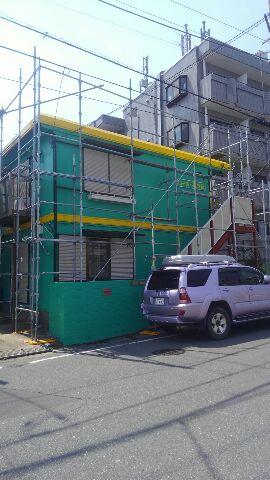 市川市、アパ-ト、外壁塗装