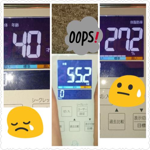 体重・体脂肪・体年齢発表(>_<)