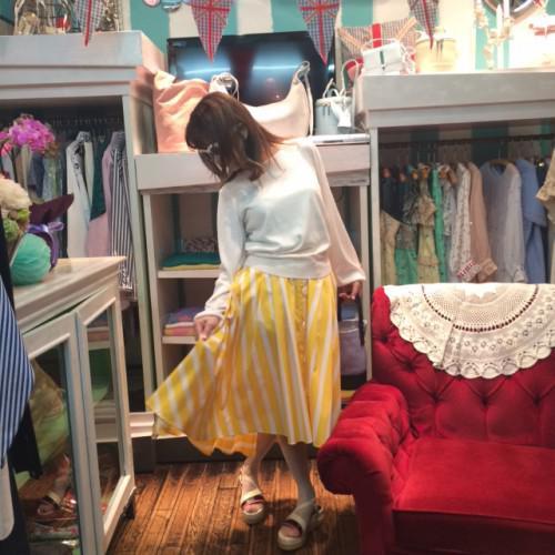 コレット代官山、美しいラインフィッシュテールスカート