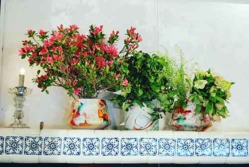 店内を彩る お花たち! 代官山 美容室