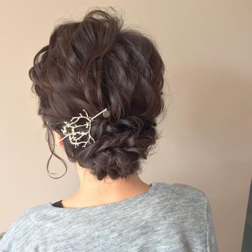結婚式お呼ばれヘア 髪型 アップスタイル シルソワ