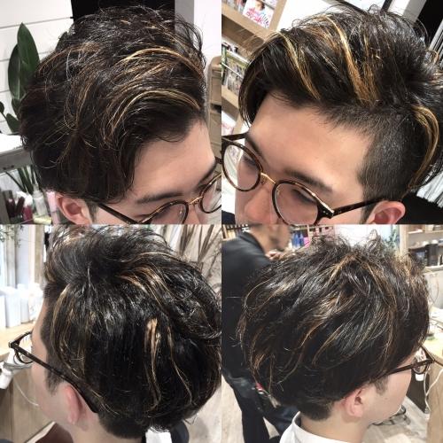 メンズカラーヘアスタイル人気髪型調布美容院
