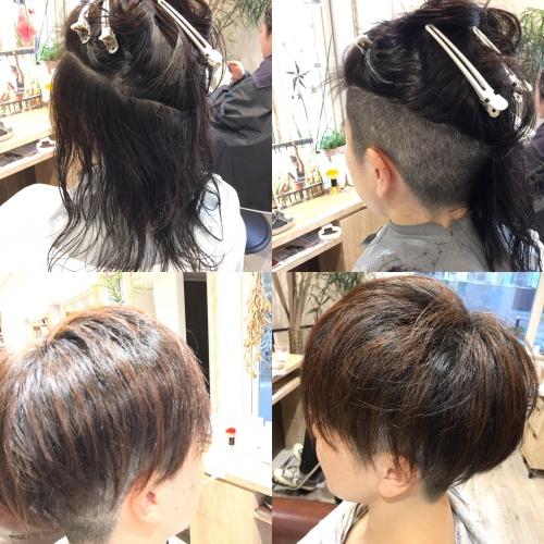 女性ツーブロックヘア人気髪型調布美容院