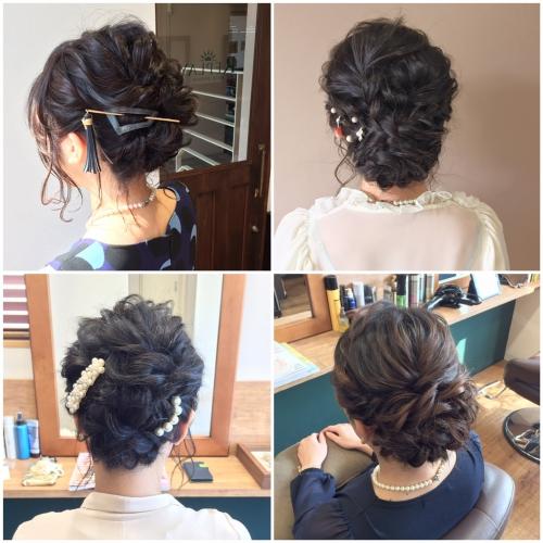 結婚式 お呼ばれ 髪型 ヘアセット アップスタイル