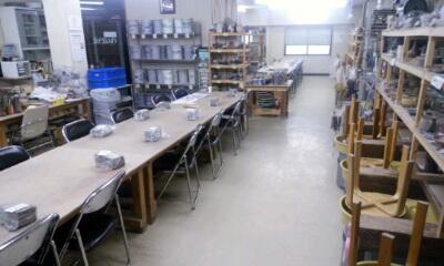 明日は志野茶碗の集中講座。準備OK。陶芸教室国立けんぼう窯
