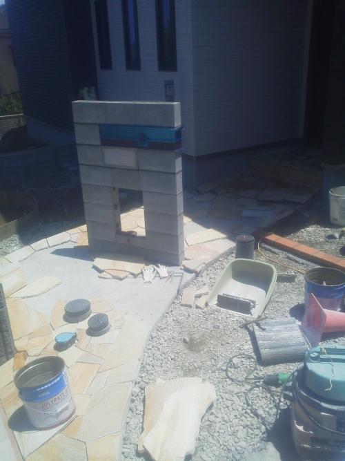 磯子区で外構工事。