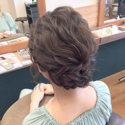 ヘアアレンジ 結婚式お呼ばれ 髪型 アップスタイル