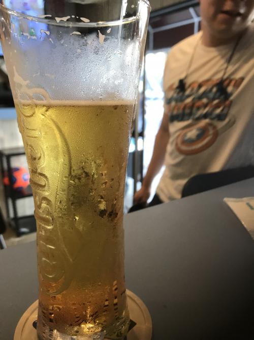 明るいうちからのビール٩( ᐛ )و