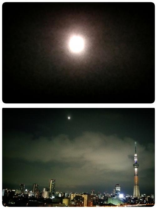 満月はぼんやりと!