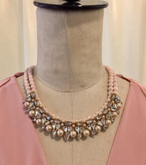 CITRUSのピンクのネックレス
