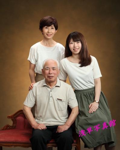 家族写真、記念の1枚