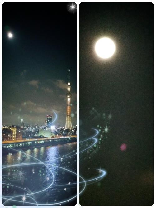 満月綺麗です!