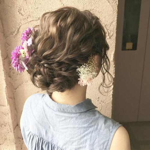 成人式 前撮り ヘアセット アップスタイル 髪型