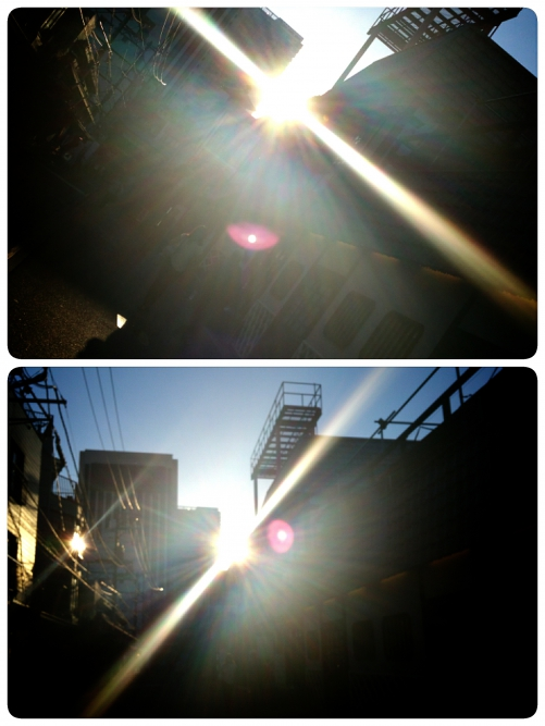 今日の夕陽パワー