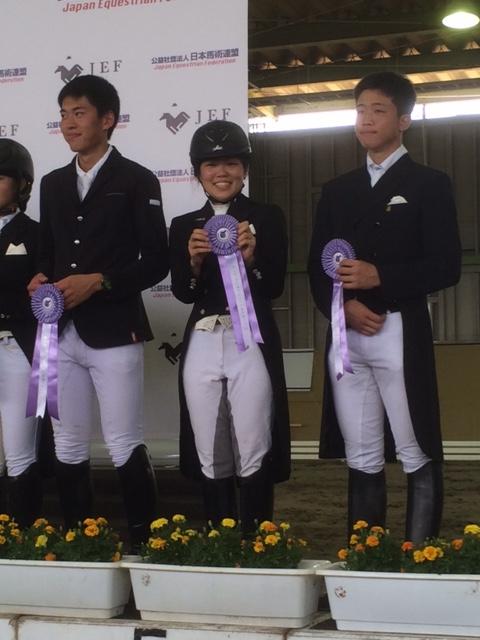全日本ジュニア馬場馬術大会二日目