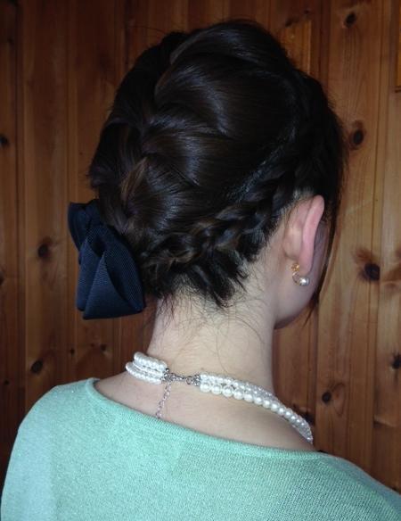 結婚式の編み込みヘアセット