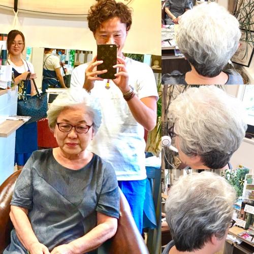 白髪ヘアスタイル素敵な髪型おすすめ調布美容院