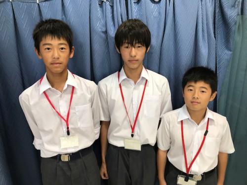 上祖師谷中学校の生徒が職場体験に来ました