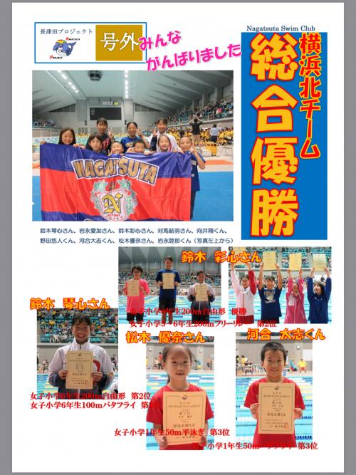 神奈川県学童学年別水泳競技の結果