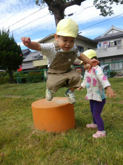 みんな大好き公園☆勇気を出してジャーンプ!