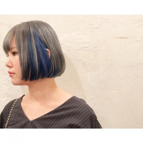 ダブルカラー♡ブルーandシルバー 代官山 美容室