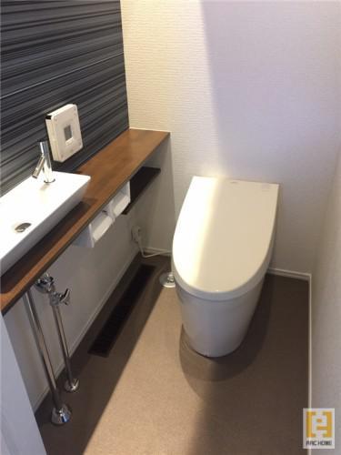 落ち着き、癒しの空間♪新築デザイナーズ住宅のトイレ♪