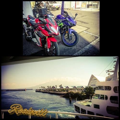 桜島でレンタルバイク