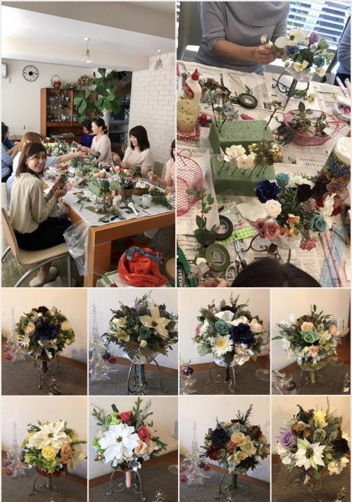 クリスマスブーケレッスン3日目
