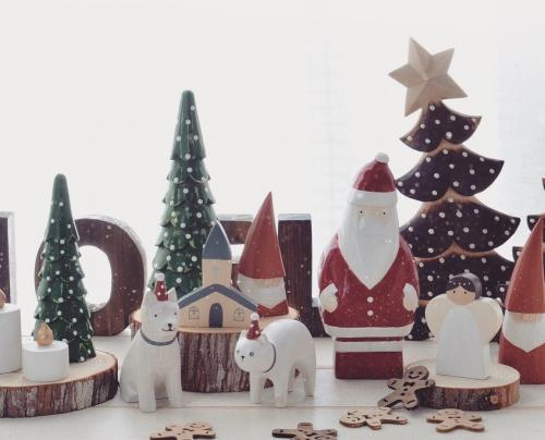 木彫りのクリスマス雑貨いろいろ♪