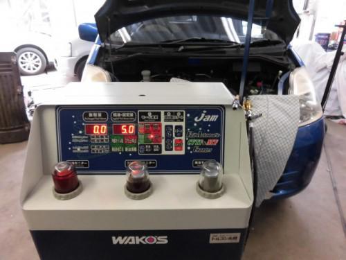 日産モコのATFをトルコン太郎で圧送交換しました。