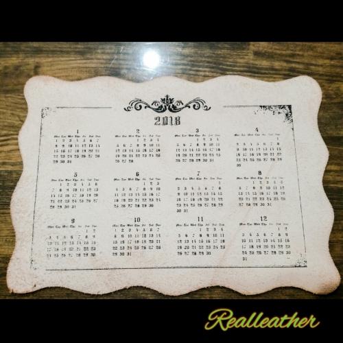 革カレンダー☆シルクスクリーン☆Realleather