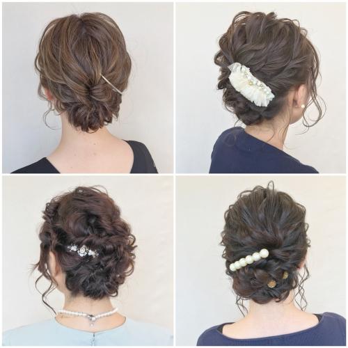 結婚式 お呼ばれヘア ヘアセット アップスタイル まとめ