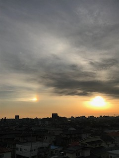 二つの太陽を発見!実は「幻日」