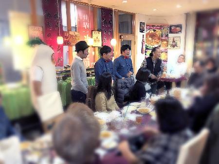 陶芸教室 国立けんぼう窯 忘年会おお盛り上がりでした。