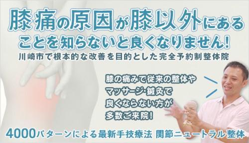 川崎市登戸 膝痛 整体院 突然の痛みと慢性痛