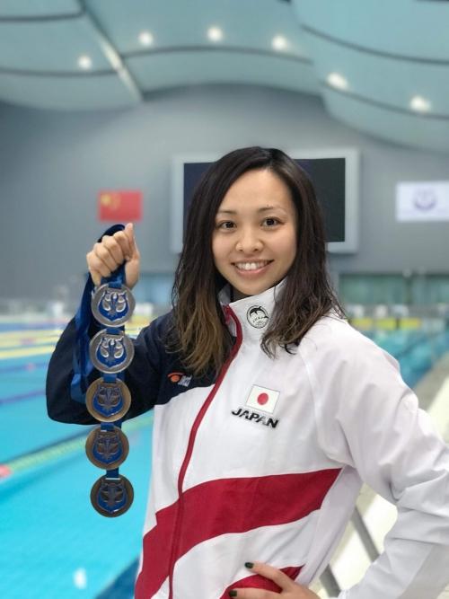フィンスイミング日本代表 松田志保選手メダルおめでとう♪