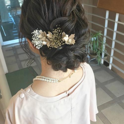 brambly  お呼ばれヘア 結婚式 アップスタイル