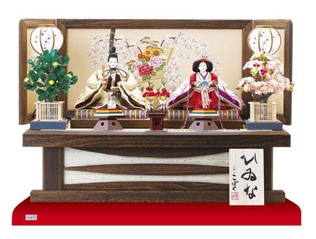◯焼桐高床台飾り金彩刺繍のお雛様