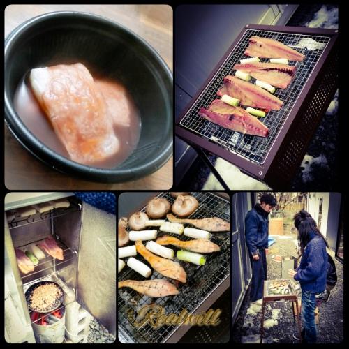 魚BBQ(∩´∀`@)⊃〜シメはおしるこ〜