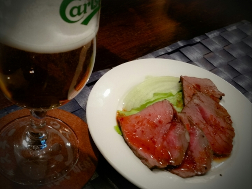 THE REAL MEATちょい飲みセットで( *´`*)