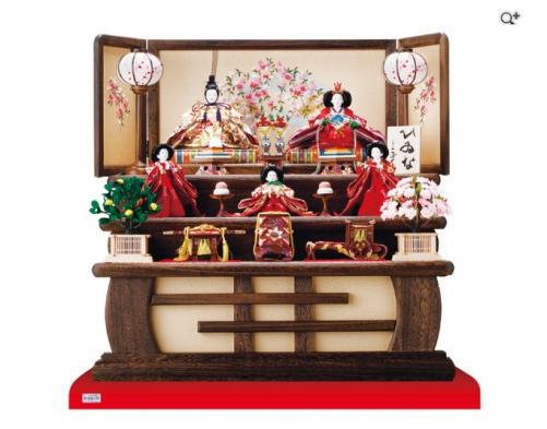 三段飾りで人気のお雛様飾りセット